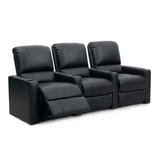 Octane Seating Charger XS300 Black Leather Manual Home Theater Seating (Row of 3)
