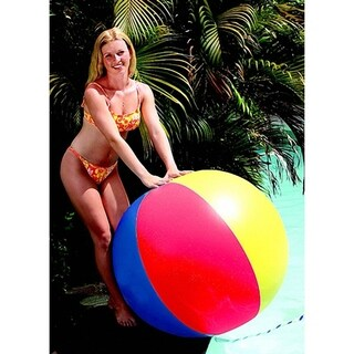 "48"" Classic Inflatable Multi Color Swimming Pool or Beach Ball"