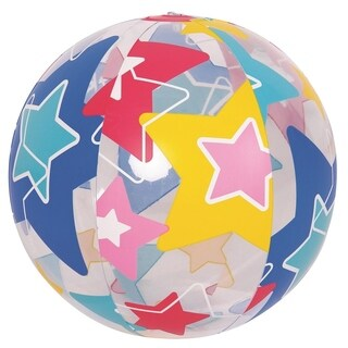 "20"" Colorful 6-Panel Star Print Inflatable Beach Ball Swimming Pool Toy"