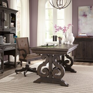 Bellamy Writing Desk in Weathered Peppercorn