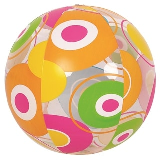 """20"""" Colorful 6-Panel Circle Print Inflatable Beach Ball Swimming Pool Toy"""