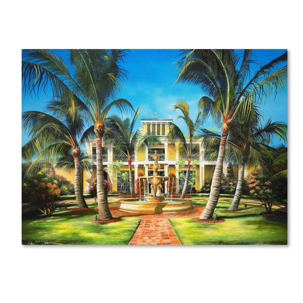 Geno Peoples 'Yellow House' Canvas Art