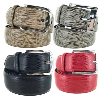 Faddism Mens Square Buckle Expedition Leather Belt Model:FS002