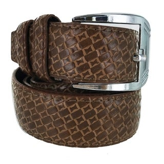 Faddism Mens Square Buckle Ranch Master Leather Belt Model:VST26