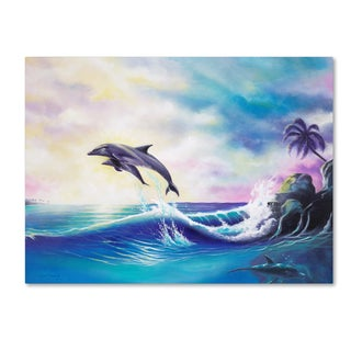 Geno Peoples 'Dolphins' Canvas Art