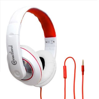 GamesterGear Red Over the Ear Stereo Wired Headphone with In-Line Microphone