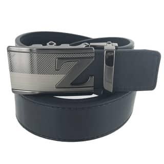 Faddism Mens Rectangular Buckle Initial Z Leather Belt Model:A48BK https://ak1.ostkcdn.com/images/products/17960285/P24137020.jpg?impolicy=medium