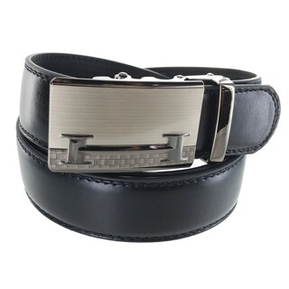 Faddism Men's Leather Business Casual Plate Buckle Belt Model 41