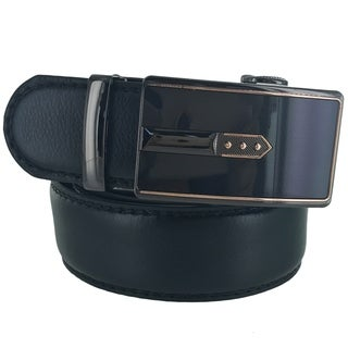 Faddism Mens Rectangular Buckle Fashion Leather Belt Model:1BK