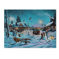 Geno Peoples 'Winter Bliss' Canvas Art