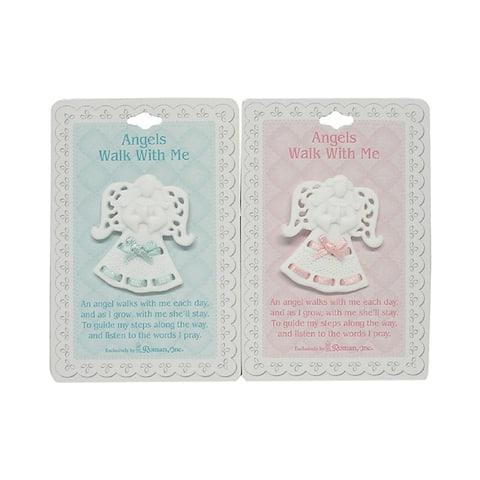 "Club Pack of 24 Angel Boy/Girl Porcelain 2"" Pins #46724"