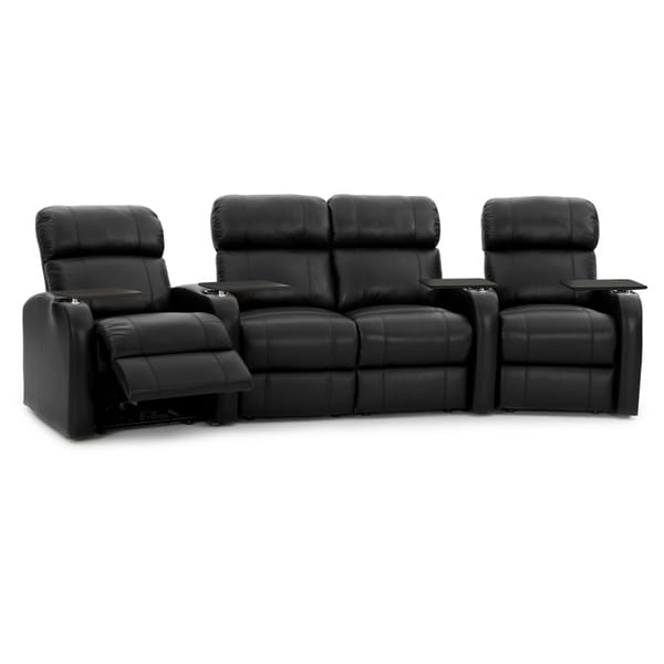 Octane Diesel XS950 Power Leather Home Theater Seating Set (Row of 4)
