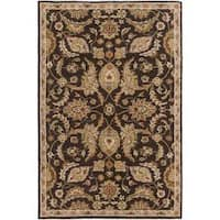 Alton Black/Beige Floral Wool Hand-tufted Area Rug (3' x 5')