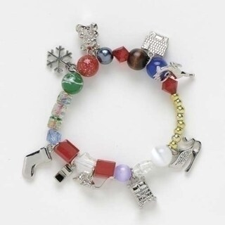 The Night Before Christmas Glass Beaded Bracelet - Size Large
