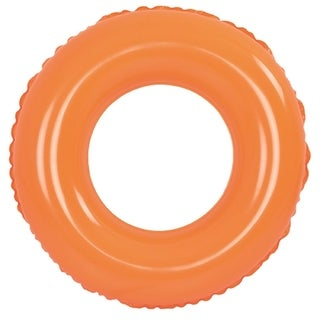 "35"" Classic Round Orange Inflatable Swimming Pool Inner Tube Ring Float"