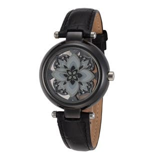 Debolon Fashion Black Ceramic Watch Flower Design Dial by Rougois|https://ak1.ostkcdn.com/images/products/17960428/P24137157.jpg?impolicy=medium