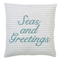 """Arielle Seas and Greetings 18"""" x 18"""" Down Pillow"""