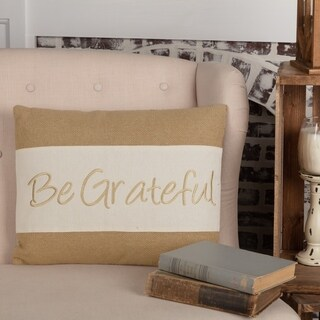 "Be Grateful 14"" x 18"" Pillow"