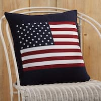 "Flag Applique 18"" x 18"" Pillow"