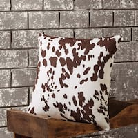 "Cowhide 18"" x 18"" Pillow"