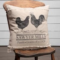 Sawyer Mill Poultry 18 Inch Decorative Throw Pillow