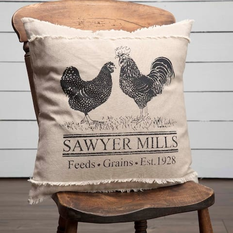 Sawyer Mill Charcoal Poultry Pillow