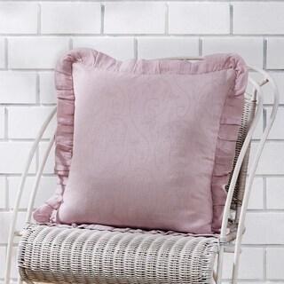 "Lilac 18"" x 18"" Ruffled Down Pillow"