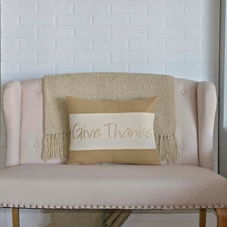 """Give Thanks 14"""" x 18"""" Pillow"""