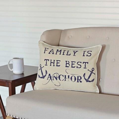 """Family Anchor 14"""" x 18"""" Pillow"""
