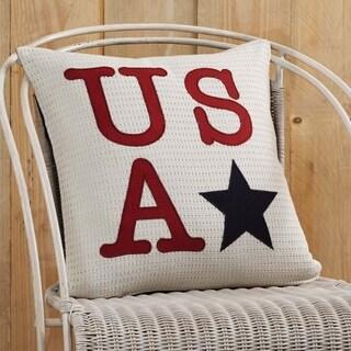 """USA Applique 18"""" x 18"""" Pillow"""