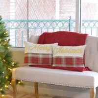 "HO HO Holiday 14"" x 18"" Pillow Set"