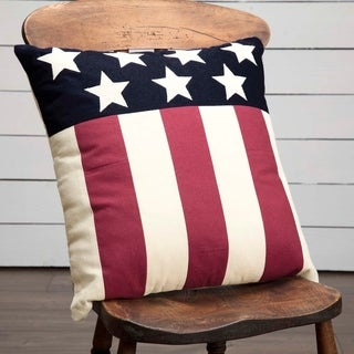 "Modern American Flag 18"" x 18"" Pillow"