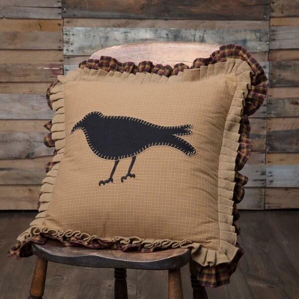 """Primitive Crow 18"""" x 18"""" Pillow"""
