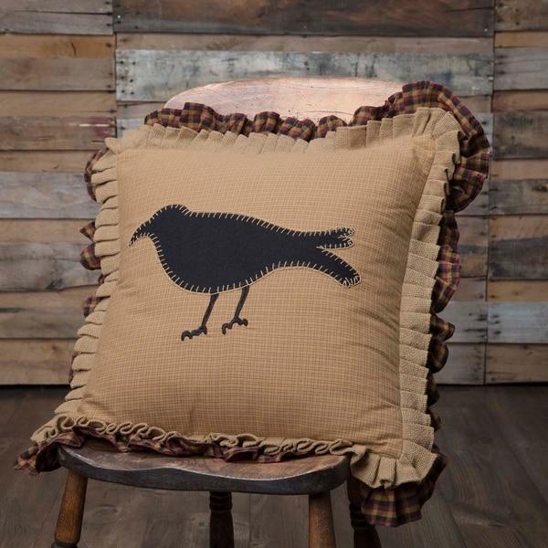 Heritage Farms Primitive Crow Pillow 18x18
