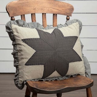 "Liberty Stars 14"" x 18"" Patchwork Pillow"