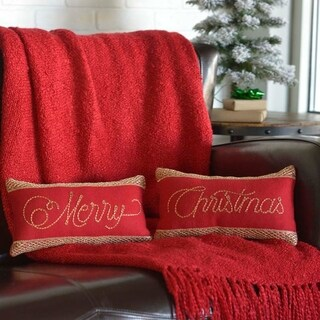 "Revelry Merry Christmas 7"" x 13"" Pillow Set"