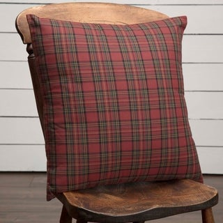 "Tartan Red Plaid 18"" x 18"" Pillow"