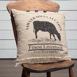 "Sawyer Mill Cow 18"" x 18"" Pillow"