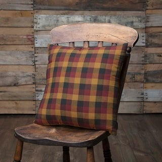 Red Primitive Bedding VHC Heritage Farms 16x16 Pillow Cotton Plaid (Pillow Cover, Pillow Insert)