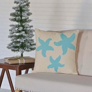 """Three Starfish 18"""" x 18"""" Pillow"""