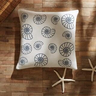 "Seashell Enchantment 18"" x 18"" Down Pillow"