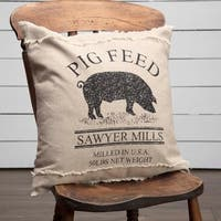 "Sawyer Mill Pig 18"" x 18"" Pillow"