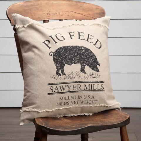 Sawyer Mill Charcoal Pig Pillow