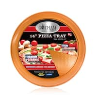 "Gotham Steel 14"" Perfect Pizza Tray – with Premium Nonstick Copper Coating – PTFE/PFOA Free, Dishwasher & Oven Safe to 500°"