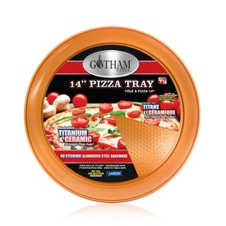 Gotham Steel 14 Perfect Pizza Tray  with Premium Nonstick Copper Coating  PTFE/PFOA Free, Dishwasher & Oven Safe to 500°