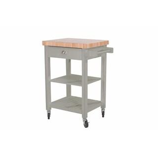 Sunjoy Collection Bedford White Kitchen Cart