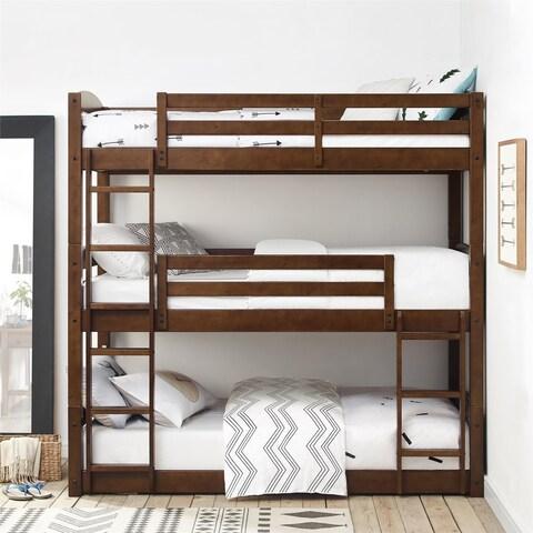Avenue Greene Nola Mocha Triple Bunk Bed