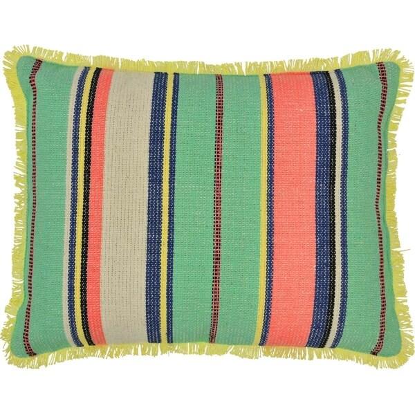 Blue Bohemian Decor VHC Alyssa Striped 14x18 Pillow Cotton Textured