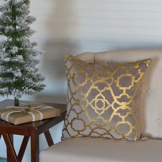 "Gold Foil 18"" x 18"" Pillow"