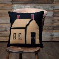 """Primitive House 18"""" x 18"""" Pillow"""